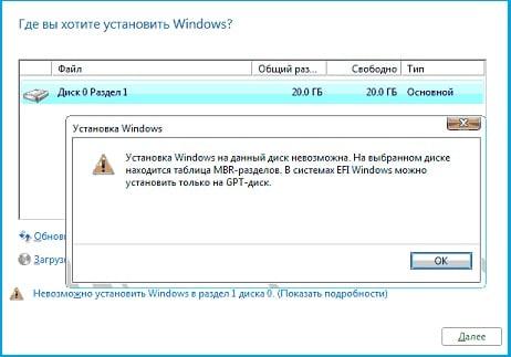 Установка Windows 10 на GPT диск