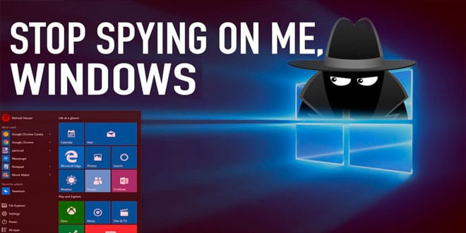 Windows 10 отключить слежение